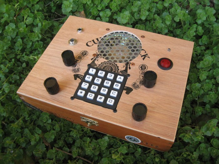 Critter and Guitari keypad cigar box synthesizer